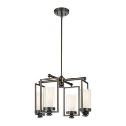 Minka-Lavery - Minka-Lavery Harvard Court 4-Light Mini Chandelier - This 4-Light candle chandelier has a bronze finish and is part of the Harvard Court Collection.