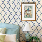 Casablanca Trellis Moroccan Stencil - Casablanca Trellis Moroccan Wall Stencil from Royal Design Studio Stencils. This painted, Eastern style, trellis pattern brings an outdoor feeling to this Master Bedroom. Allover patterns also work well in dining rooms, bathrooms, hall ways and floors, and this one would be stunning on a ceiling.