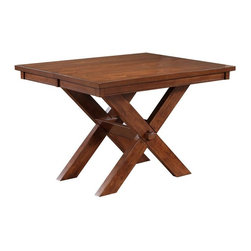 Powell - Powell Kraven Dark Hazelnut Gathering Height Table Multicolor - PO2907 - Shop for Dining Tables from Hayneedle.com! Farmhouse style for today's lifestyle the Powell Kraven Dark Hazelnut Gathering Height Table is just right for you. This taller standing table has strong lines and a square top that extends to a generous rectangle with the included leaf. Classic charm lives in its sturdy X base and spacious top. Modern style comes home with its eco-friendly Acacia and Rubberwood construction and dark hazelnut finish.More About Powell FurnitureBased in Culver City Calif. the Powell company designs imports and distributes occasional dining accent and youth furniture across all style categories. Since 1968 Powell has grown to become one of the most recognized names in the home furniture industry. From sturdy safe childrens furniture to elegant bedroom and other home collections Powell continues to develop new and exciting designs for homes around the globe.
