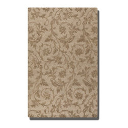 Licata 5 X 8 Rug - Desert Sand - *Desert Sand Wool And Viscose Blend Detailed In A Loop And Cut Pile With Raised Vine Detail.