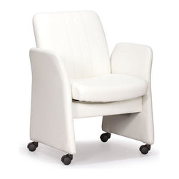 ZUO - Colonel Conference Chair - White - The Colonel Conference Chair has lush cushions and a dignified bearing. Perfect for when you want to be professional yet comfy. Comes in black or white.