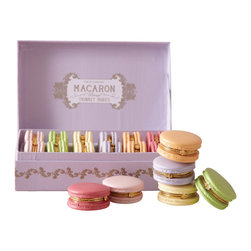 Zhush - French Macaron Trinket Box, Vanilla - How sweet! We love these Limoge style boxes shaped like our favorite French treat...makes for great party favors and uniquely adorable gifts.