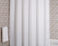 Croydex - Woven Stripe Textile Shower Curtain - AF58082 - Manufacturer SKU: AF580822YW. Water Resistant Fabric. Easy to clean - Machine Washable. Cling resistant weighted hem. Ready to hang with 12 corrosion resistant metal eyelets. 100% Polyester. 70.87 in. W x 70.87 in. HOur extensive range of ready to hang shower curtains offers a number of choices of color material, size, and style.