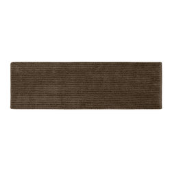 None - Xavier Stripe Chocolate 22 x 60 Bath Runner - Enjoy the plush feel of the Xavier Stripe bath and spa collection, while adding a classic note of design and color. This long brown rug is created from durable, machine-washable nylon with non-skid latex backing for safety.