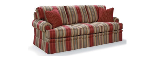 Fairfield Chair Company - Cushion Sofa (Fabric: Sage) - Fabric: Fabric: SageSemi-attached back. Loose seat. Standard ultra plush cushion. Standard with two 18 in. throw pillows. Nails available on arm panels only. Made from hardwood and fabric. Seat Height: 20.5 in.. Arm Height: 25 in.. Seat Depth: 20 in.. Inside Width: 68 in.. Overall: 86 in. L x 36 in. W x 38 in. H