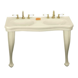 "Renovators Supply - Double Vanity Bone Console Sink Provincial 8"" - Double Vanity: Belle Epoque double deluxe."