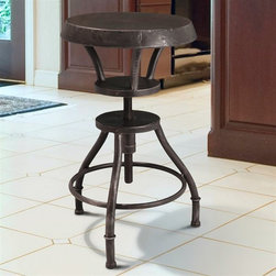 Best Selling Home Décor Lucian Adjustable Barstool - With the Lucian Adjustable Barstool, you can add adjustable seating to your bar or even a fun way to sit at your dining table. Arriving fully assembled, you'll have years of use with its sturdy iron frame.