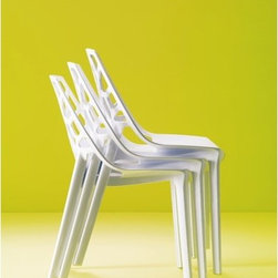 Bontempi Casa - Spider Side Chair - Designed by: Erresse Studio Features: -Light-weight stackable chair in molded recyclable polycarbonate.-Suitable for outdoor use.-Made in Italy.-Distressed: No.-Country of Manufacture: Italy.Dimensions: -Seat height: 17.7''.-Dimensions: 32.3'' H x 18.1'' W x 22.4'' D.-Overall Product Weight: 28 lbs.