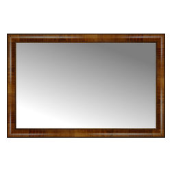 "Posters 2 Prints, LLC - 38"" x 25"" Belmont Light Brown Custom Framed Mirror - 38"" x 25"" Custom Framed Mirror made by Posters 2 Prints. Standard glass with unrivaled selection of crafted mirror frames.  Protected with category II safety backing to keep glass fragments together should the mirror be accidentally broken.  Safe arrival guaranteed.  Made in the United States of America"
