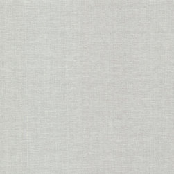 Brewster Home Fashions - Valois Silver Linen Texture Wallpaper Bolt - A sophisticated texture for walls adding a fine woven effect in a soft silver grey hue.