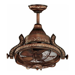 16-inch Casa Vieja Esquire Rotational Head Ceiling Fan - Here's a cool Victorian-industrial design for a ceiling fan.