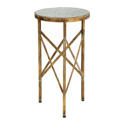 Old World Design Antique Gold Accent Table