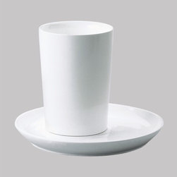 Kahla - Five Senses White Drinking Glass (Set of 4) - Enjoyable company, the right ingredients, and sensible but beautiful tableware simply go together. Five Senses is a versatile porcelain concept for todays kitchen and table. Sensuous and with an eye-catching form, this modern dinnerware is sensible and surprisingly functional. Perfect for serving just one as well as your most anticipated dinner parties, the Five Senses collection boasts extraordinary cups, plates, dishes and more. These modern classics take porcelain dinnerware to a new level of gourmet preparation and presentation. Five Senses Awards: -IDEA (Industrial Design Excellence Award) USA 2004 -iF Design Award (Hanover) -Good Design Award (Chicago) 2003 -Auszeichnung beim Designpreis Thüringen 2003 -Good Design Award (Japan) 2003 -Form 2003 -reddot design award 2002 -DDC-Preis 2002 Deutscher Designer Club -Form 2001 Features: -Microwave safe -Dishwasher safe -Freezer safe -Overall Dimensions: 11.8 oz capacity