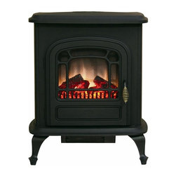 Home Decorators Collection - Brooke Electric Stove Fireplace - For adding classic style and cozy warmth to any room, you'll want to order the Brooke Electric Stove Fireplace. With its 3D patented flame and adjustable thermostat, you'll have a traditional wood-stove feel without all the mess. Make this functional home accent part of your order today.Features a durable metal construction and plugs into any household outlet. Includes a safety cut-off and is CSA approved.