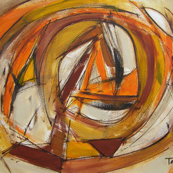 Anchoring You (Original) by Lynne Taetzsch - Anchoring You is a labyrinth in lush earth colors, drawing us into its vortex. It is a strong, improvisational piece with bold strokes and broad gesture.