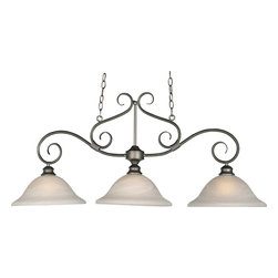 Maxim Lighting - Maxim Lighting Pacific Island/Billiard Fixture in Pewter - Shown in picture: Simple - elegant designs offered in a variety of our most popular finishes. Choose from Acorn - Country Stone - Pewter and Kentucky Bronze. Glass options are Marble and Wilshire.