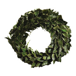 Zodax - Natural Leaf Wreath / Green - Large by Zodax - Natural Leaf Wreath / Green - Large by Zodax