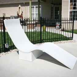 Concrete Lounge Chair - White concrete lounge chair