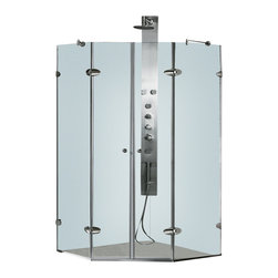 Vigo - Vigo 40 x 40 Frameless Neo-Angle 3/8in.  Clear/Chrome Shower Enclosure - Both dramatic and space-saving, the Vigo frameless neo-angle shower enclosure creates a beautiful focal point for your bathroom.