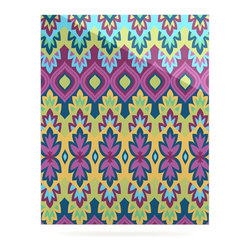 "Kess InHouse - Amanda Lane ""Boho Chic"" Purple Yellow Metal Luxe Panel (24"" x 36"") - Our luxe KESS InHouse art panels are the perfect addition to your super fab living room, dining room, bedroom or bathroom. Heck, we have customers that have them in their sunrooms. These items are the art equivalent to flat screens. They offer a bright splash of color in a sleek and elegant way. They are available in square and rectangle sizes. Comes with a shadow mount for an even sleeker finish. By infusing the dyes of the artwork directly onto specially coated metal panels, the artwork is extremely durable and will showcase the exceptional detail. Use them together to make large art installations or showcase them individually. Our KESS InHouse Art Panels will jump off your walls. We can't wait to see what our interior design savvy clients will come up with next."