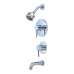 Pioneer - Pioneer Motegi Series 4MT100T Single Handle Tub and Shower with Diverter Trim Se - Pioneer 4MT100T Single Handle Tub and Shower with Diverter Trim Set,PVD Polished Chrome Finish. Pioneer Industries,Inc. has manufactured innovative,high-quality faucets for nearly three decades.