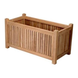 "Anderson Teak - 36"" x 18"" Planter Box - This planter box is a compliment for a small or medium size plants. It is perfect for anyone or gardener who love the perfection and it will hold 2 plants easily."
