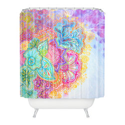DENY Designs - Stephanie Corfee Flourish Shower Curtain - Who says bathrooms can't be fun? To get the most bang for your buck, start with an artistic, inventive shower curtain. We've got endless options that will really make your bathroom pop. Heck, your guests may start spending a little extra time in there because of it!