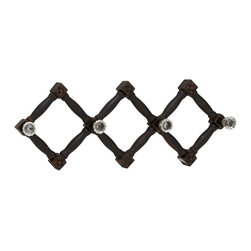 Cool and Distinctive Wood Glass Wall Hook - Description: