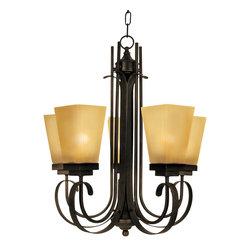 Yosemite Home Decor - 5 Lights Chandelier in Venetian Bronze - Feature: