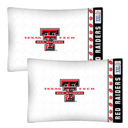 Store51 LLC - NCAA Texas Tech Red Raiders Football Set of Two Pillowcases - Features: