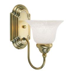 Livex Lighting - Livex Lighting 1001-01 Bath Light - Glass Type/Shade Type: White Alabaster Glass
