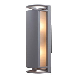 Access Lighting - Access Lighting 20343 Two Light Ambient Lighting Outdoor Wall Sconce from the Po - Two light ambient lighting outdoor wall sconce featuring ribbed frosted glassRequires 2 60w Medium Base Bulbs (Not Included)