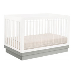 Harlow 3 in 1 Crib - The Harlow Crib combines functionality with chic and trendy design. This convertible crib is ideal for your rapidly growing baby. Not only does this essential furniture piece grow with your child, but the innovative design allows Mom and Dad to keep a close eye on baby! Featuring environmentally friendly materials, the see through acrylic panel provides parents with the best possible view of their baby.