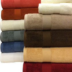 Royal Tradition - R-T Plush Egyptian Cotton 6-Piece Towel Set - Plush Egyptian Cotton 6-Piece Towel Set-Update your bathroom in style with this absorbent six-piece towel set, which includes bath towels, hand towels, and washcloths for two. These towels are available in a variety of colors that will look great in any bathroom.