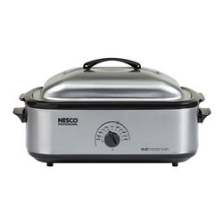 """None - Roaster stainless steel Perpnon-stick 18 QT Slowcooker - The NESCO 18-quart. Roaster Oven is your portable,""""go anywhere"""" second oven capable of doing everything a traditional oven does,except broil."""