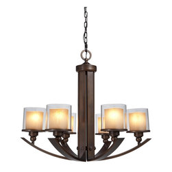 Artcraft Lighting - Transitional 6 Light Up Lighting ChandelierSierra Collection - ARTCRAFT's design team is constantly developing beautiful new styles and finishes and searching the world for components of the highest quality to utilize in designs that will enhance the home.