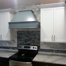 Transitional Kitchen by Heller Cabinetry