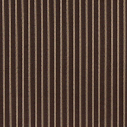 Two Toned Brown, Thin Striped Woven Upholstery Fabric By The Yard - This material is an upholstery grade jacquard fabric. It is lightweight, but is rated heavy duty and upholstery grade.