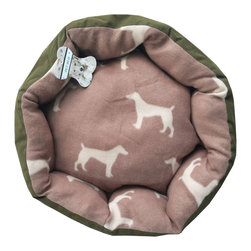Four Seasons - Green Pet Bed 20x20 Dog Silhouettes Puppy Floor Pillow - Features: