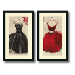 Amanti Art - Aimee Wilson 'Style and Glamour- set of 2' Framed Art Print 19 x 31-inch Each - It is all about the dress.  Celebrate fashion culture and couture with this fabulous framed print set of Style and Glamour by Aimee Wilson.