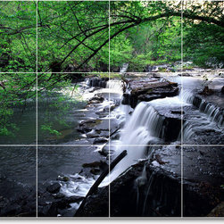 Picture-Tiles, LLC - River Photo Kitchen Tile Mural R011 - * MURAL SIZE: 12.75x17 inch tile mural using (12) 4.25x4.25 ceramic tiles-satin finish.
