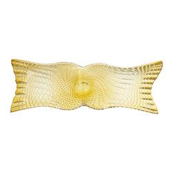 "Joshua Marshal - Yellow 31"" x 11.5"" Large Bowtie Bowl - Yellow 31"" x 11.5"" Large Bowtie Bowl"