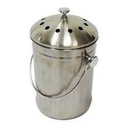 Good Ideas - Good Ideas Kitchen Accents - Stainless Steel Kitchen Composter - KA-SS3Q - Shop for Garden Equipment from Hayneedle.com! The Good Ideas Kitchen Accents Stainless Steel Kitchen Composter efficiently reduces food waste without compromising your immaculate kitchen decor. Crafted from stainless steel in a fingerprint-resistant brushed finish this three-quart pail features a large loop handle for carrying outdoors and a replaceable charcoal filter in the lid for odor-free kitchen composting.About Good Ideas Inc.Based in Lake City Penn. Good Ideas Inc. was founded in 2001 and has been promoting green living ever since. Many of their innovative products have been featured in magazines newspapers TV shows and news stories. Good Ideas' products focus on sustainability and are developed from practical common-sense ideas generated from consumer needs. Good Ideas' great products include the Rain Wizard Big Blue Rain Saver Compost Wizard and many more.