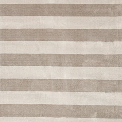 Jaipur Rugs - Transitional Stripe Pattern Gray /Black Wool/Silk Handloom Rug - KT16, 8x10 - European refinement and a contemporary aesthetic are the hallmarks of the Konstrukt collection. Subtle, textural designs are hand-woven into each loomed piece. Art silk combined with plush and rich wool creates an environment that redefines comfort. The best-designed rooms start with a solid and bold foundation