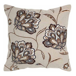 Rizzy Home - Beige and Brown Decorative Accent Pillows (Set of 2) - T04272 - Set of 2 Pillows.