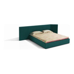 Missoni Home - Screen Platform Bed - Features: -Removable upholstery.-Wooden frame.-Distressed: No.-Country of Manufacture: Italy.