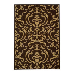 Safavieh - Safavieh Courtyard Cy2663-3409 Chocolate / Natural Area Rug - Traditional patterns and classic beauty are found in the area rugs of the Courtyard collection. Made in Belgium of enhanced polypropylene, these rugs are extremely durable and perfect for indoor or outdoor use. The area rugs of the Safavieh Courtyard collection offer highly detailed and sophisticated designs created through an unusual sisal weave. Select the colors, design, and style that will compliment any room in your home in round, rectangular or runner rugs.