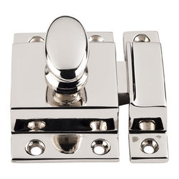 """Top Knobs - Cabinet Latch 2"""" - Polished Nickel - Length - 2"""", Width - 2"""", Projection - 1/2"""""""