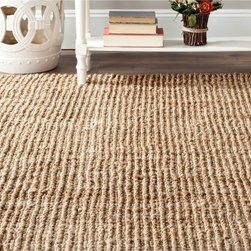 Safavieh - Hand-woven Weaves Natural-colored Fine Jute Sisal-style Rug (5' x 7'6) - Complete your home decor with a hand-woven area rug. Rug is constructed of 100-percent natural jute. Innately soft and durable. Will add a warm accent to any decor.