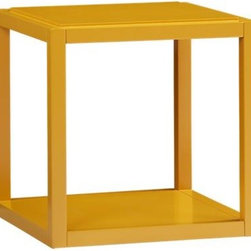 Ditto Butterscotch Cube - Need a hit of yellow? Look no further. This table could work as a nightstand in the bedroom or as a side table in the living room.